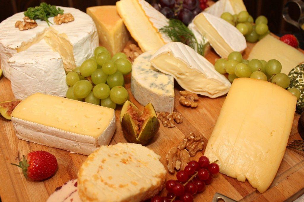käseplatte, cheese, buffet